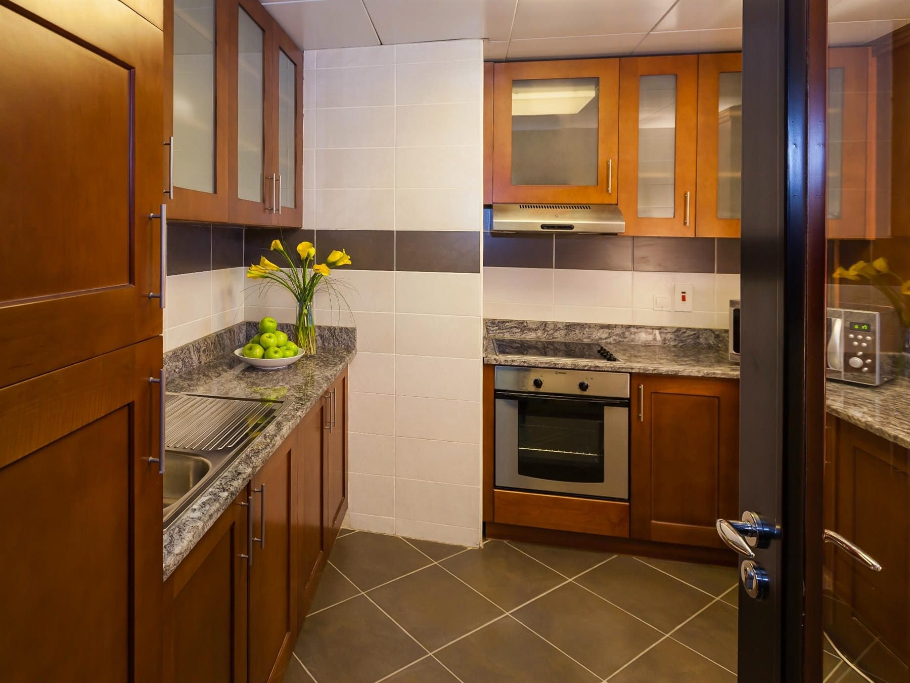 1BHK Park View Kitchen