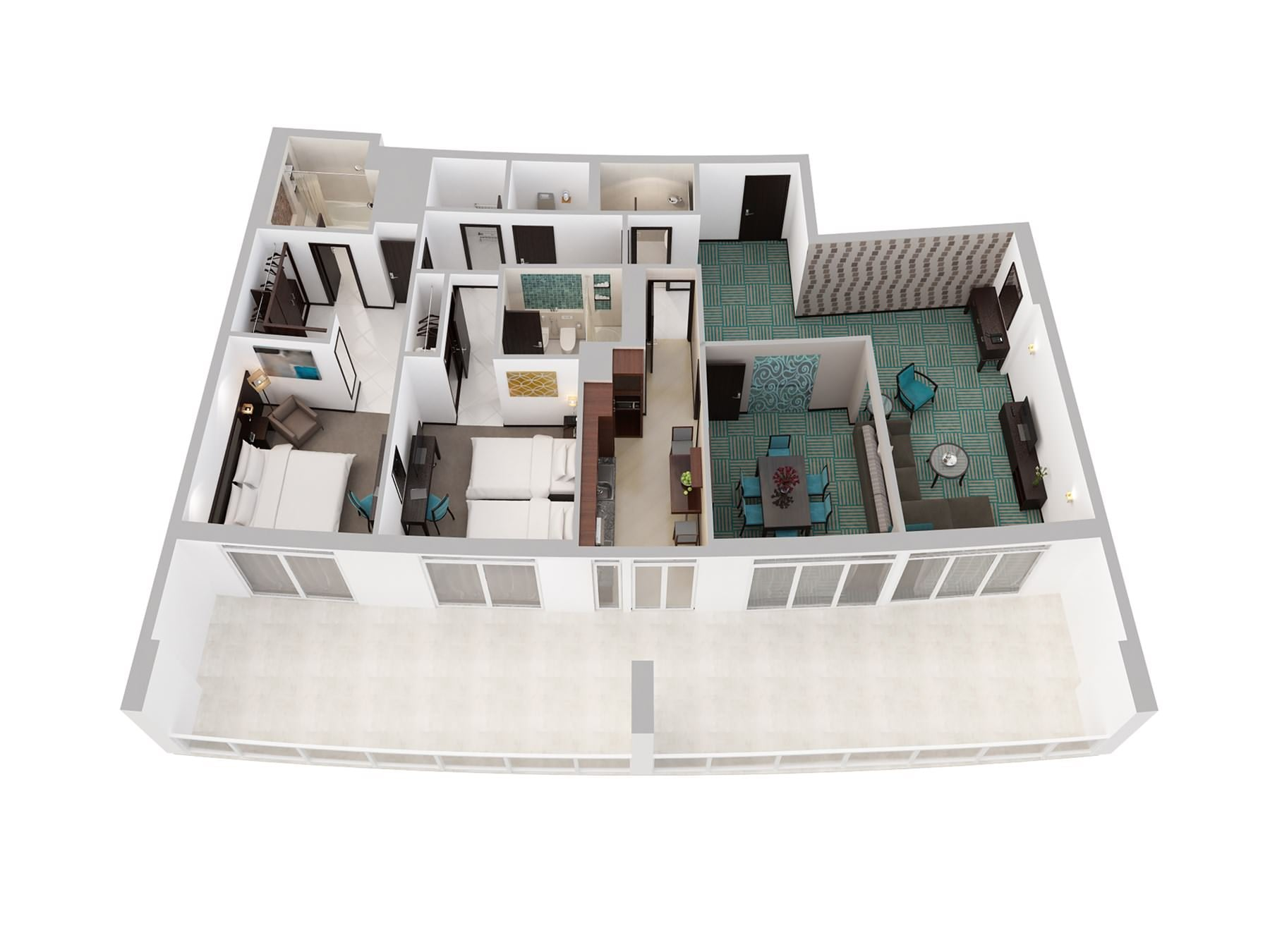 Two Bedroom Apartment Creek Side